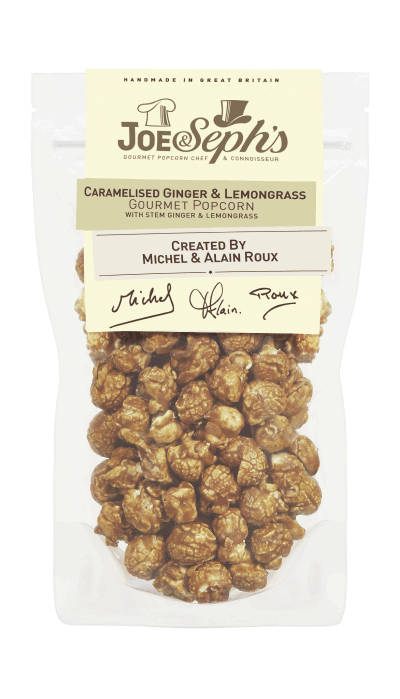 Caramelised Ginger & Lemongrass Popcorn by Michel & Alain Roux Gourmet Popcorn